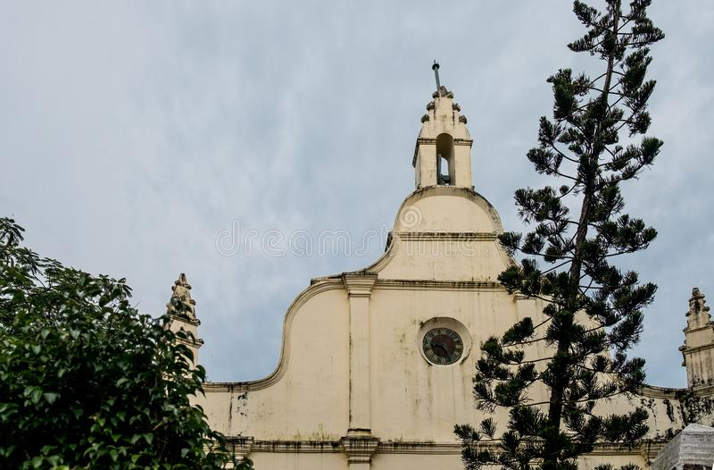 Iew of st francis catholic church front facade in kochi, it is the oldest in india and a symbol of christianity and Catholicism in. St francis catholic church royalty free stock images