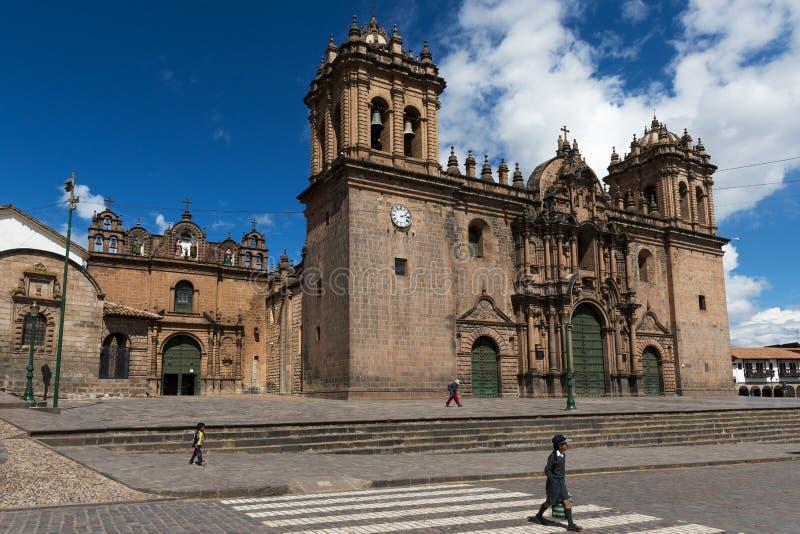 Iew von Cuzco-Kathedrale in der Stadt von Cuzco, in Peru lizenzfreie stockfotografie
