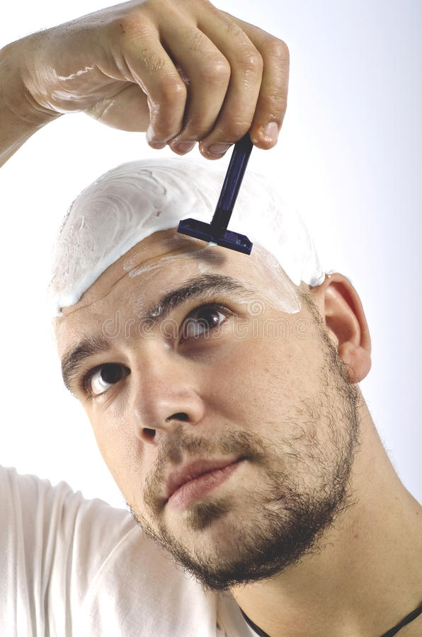Download If You Are A Bald, You Should Shave Your Head Stock Photo - Image: 27151068