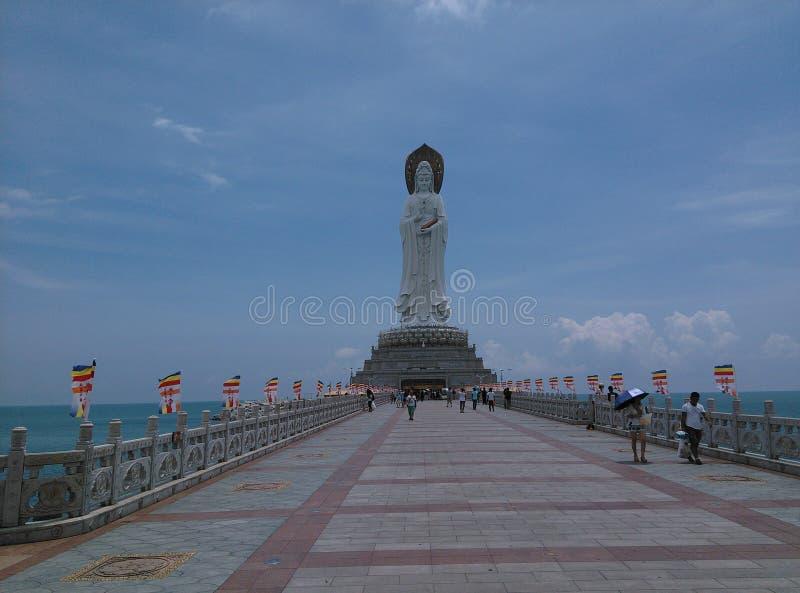 Nanhai Guanyin Statue , in Sanya, Hainan in China. stock photo