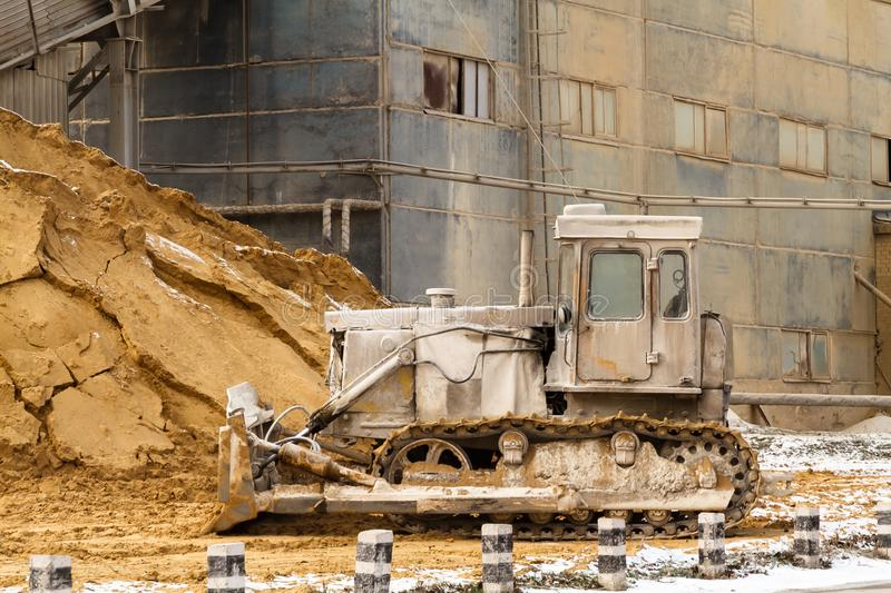 If you work as much as this bulldozer, you will look bad too royalty free stock photography