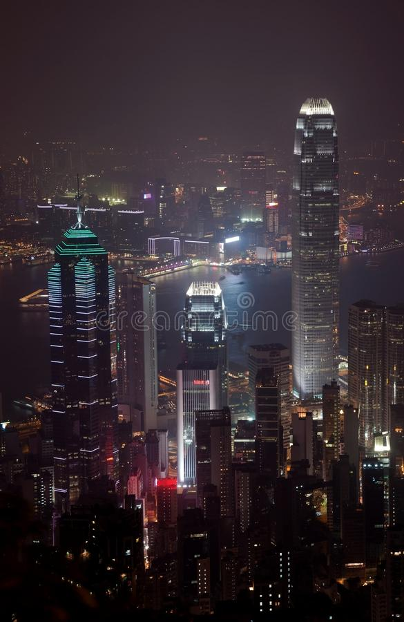 Download IFC Hongkong by Night stock image. Image of architecture - 11628791