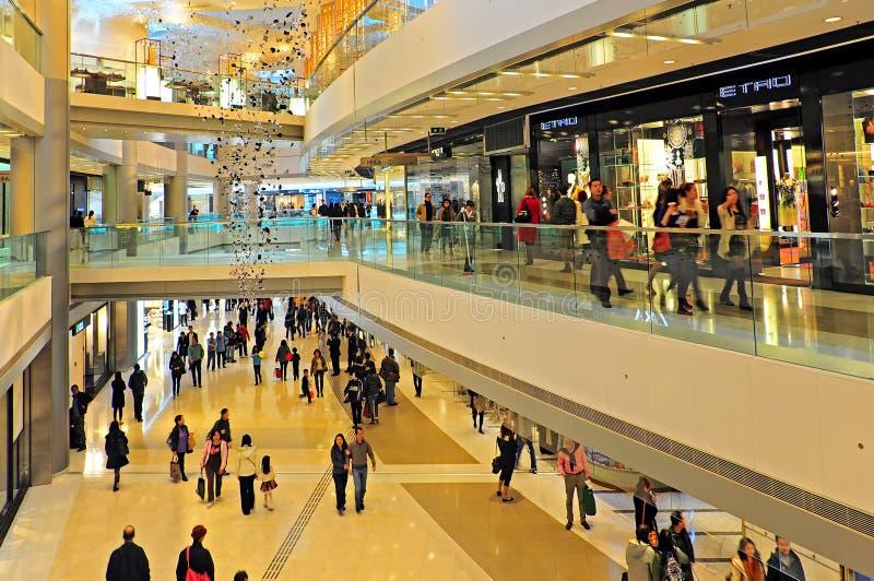 Ifc shoppinggalleria, Hong Kong royaltyfria foton
