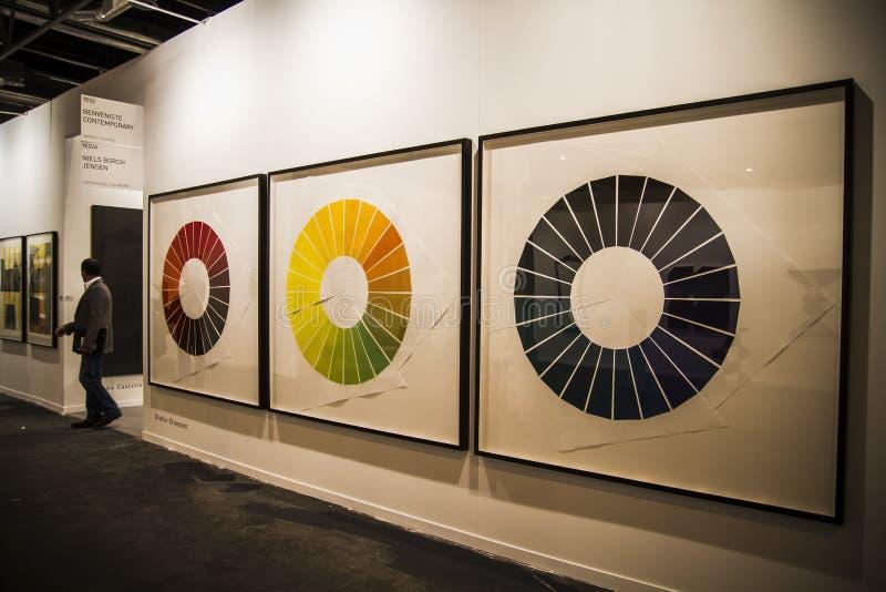 Ifema. Comience 2014 ARCO, Art Fair contemporáneo internacional imágenes de archivo libres de regalías