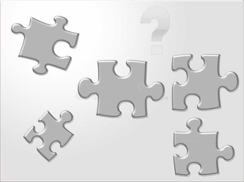 ifrågasätta för puzzels stock illustrationer