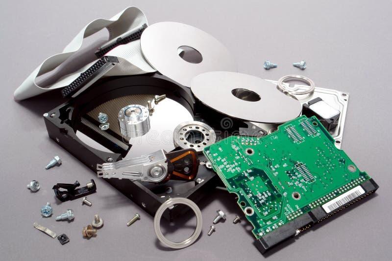 Ifrån varandra brutet dator kraschat drev hard