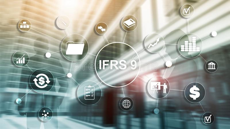 IFRS International Financial Reporting Standards Regulation instrument. IFRS International Financial Reporting Standards Regulation instrument stock photo