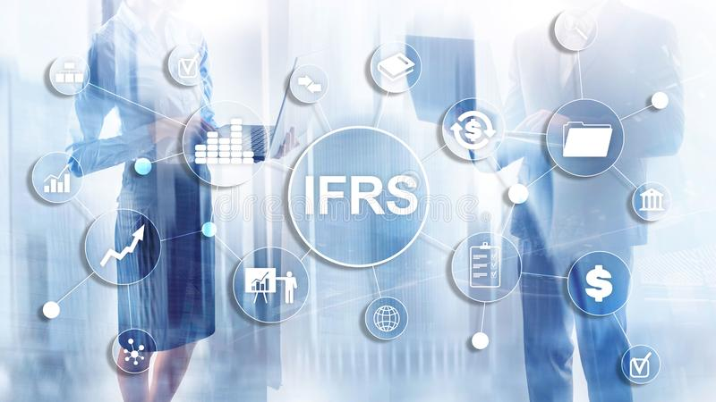 IFRS International Financial Reporting Standards Regulation instrument. IFRS International Financial Reporting Standards Regulation instrument royalty free stock photo
