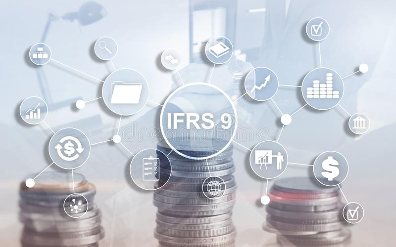 IFRS International Financial Reporting Standards Regulation instrument.  royalty free stock images