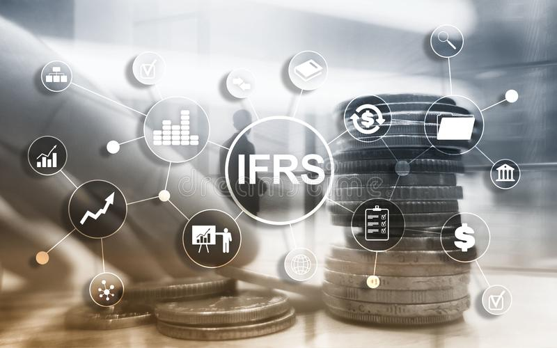 IFRS International Financial Reporting Standards Regulation instrument.  royalty free illustration