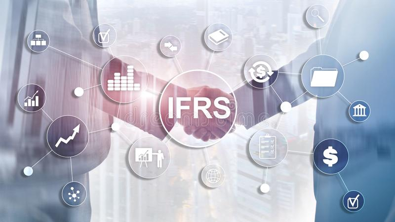 IFRS International Financial Reporting Standards Regulation instrument.  stock images
