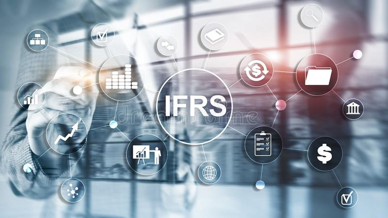 IFRS International Financial Reporting Standards Regulation instrument. IFRS International Financial Reporting Standards Regulation instrument stock photos