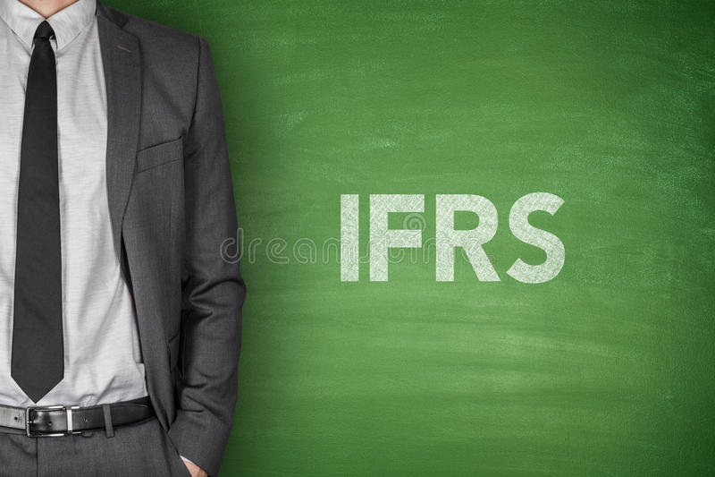 IFRS na blackboard zdjęcia stock