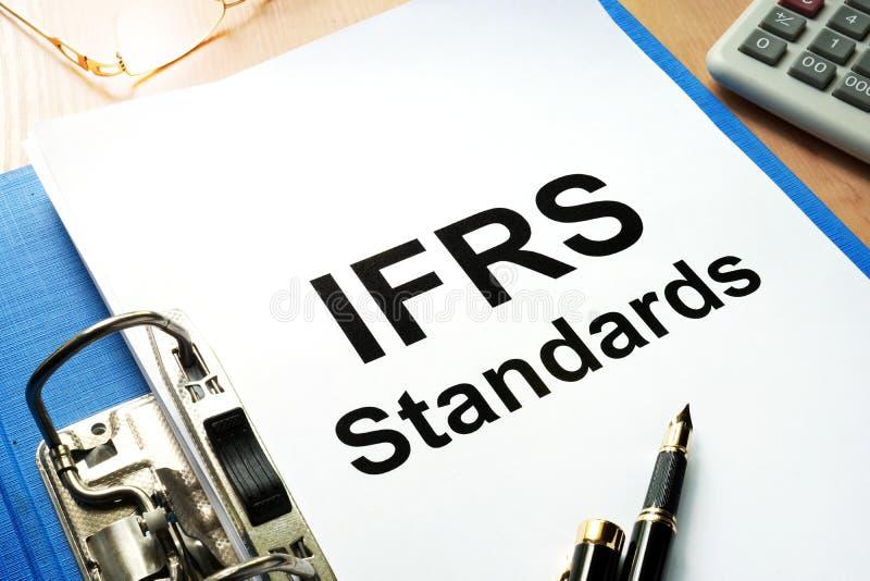 IFRS-normen royalty-vrije stock afbeelding