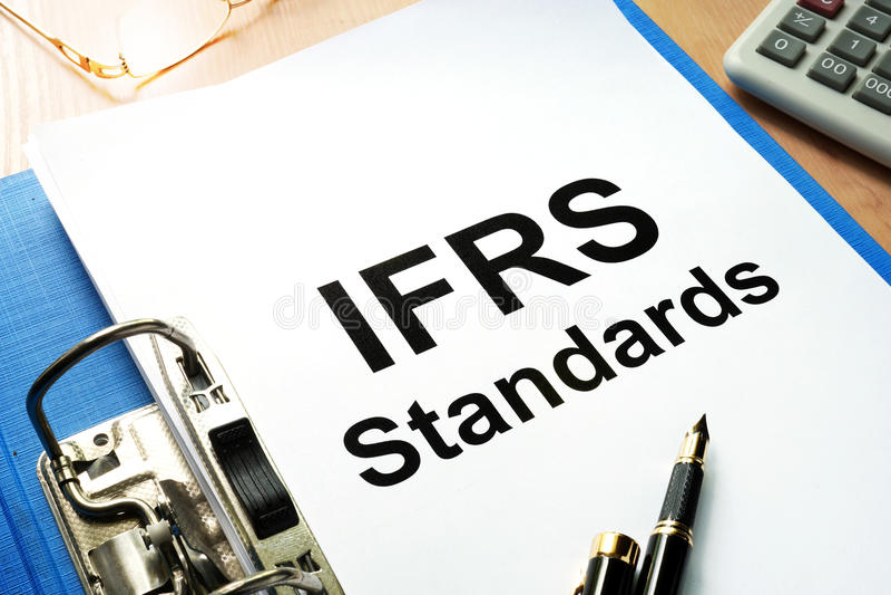 IFRS standardy obraz royalty free