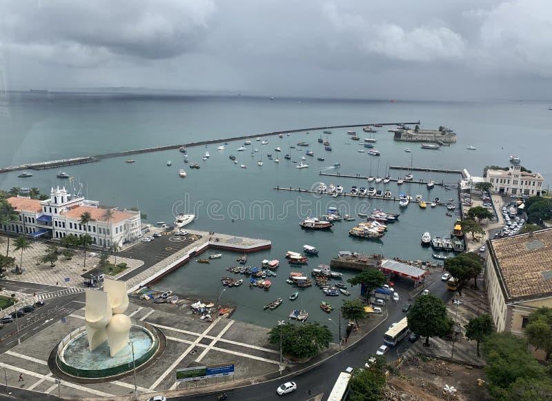 Ift Lacerda, tourist spot of Salvador. Salvador - Brazi. lift Lacerda, tourist spot of Salvador royalty free stock image