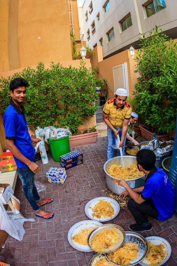 Iftar i Dubai arkivbilder