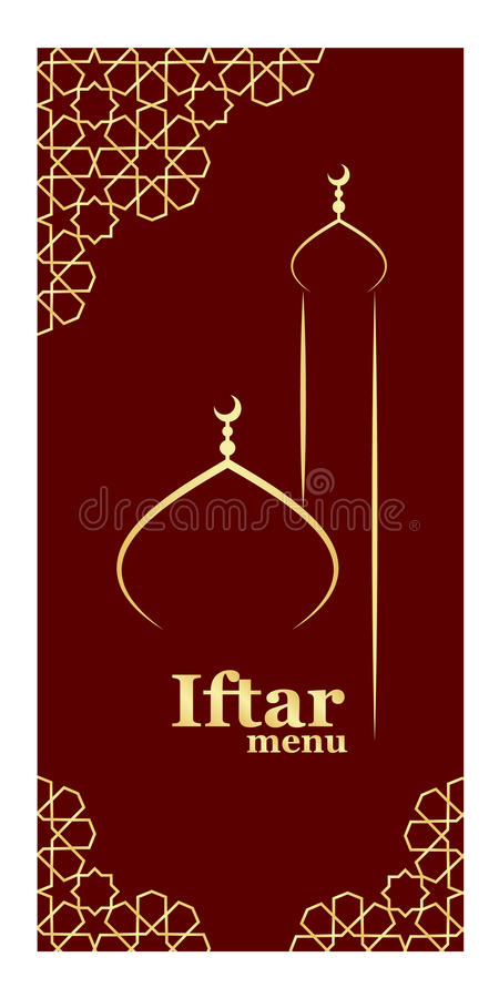 iftar menu template stock vector  illustration of ramadan