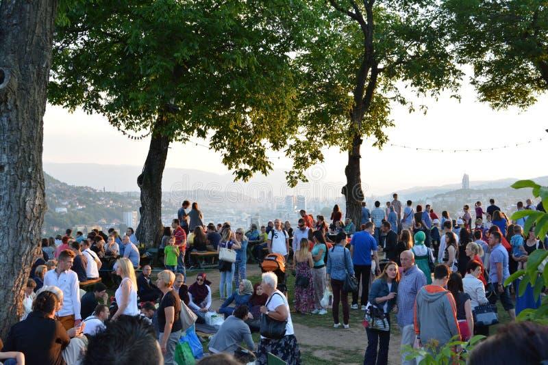 Ifthar в Сараеве стоковая фотография rf