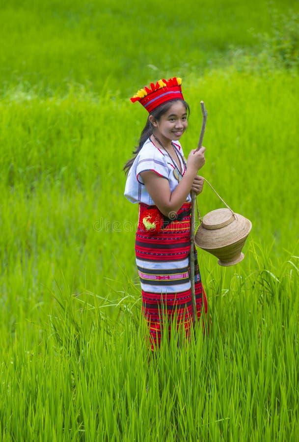 Ifugao mniejszość etniczna w Filipiny obrazy stock