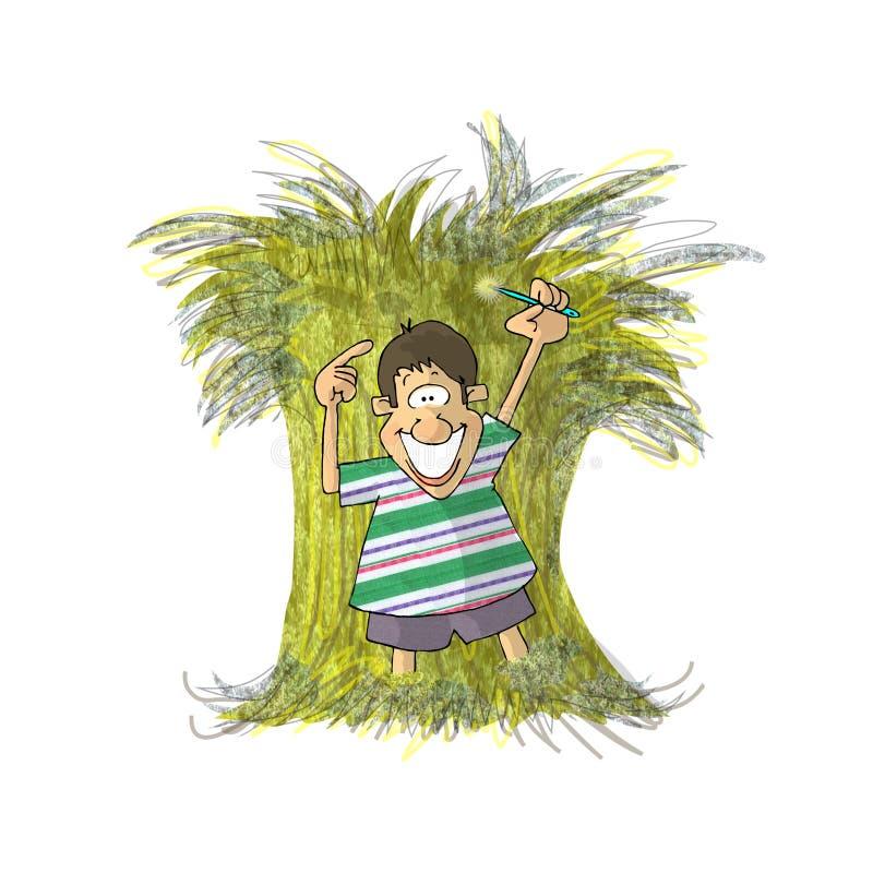 igła w stogu siana ilustracji