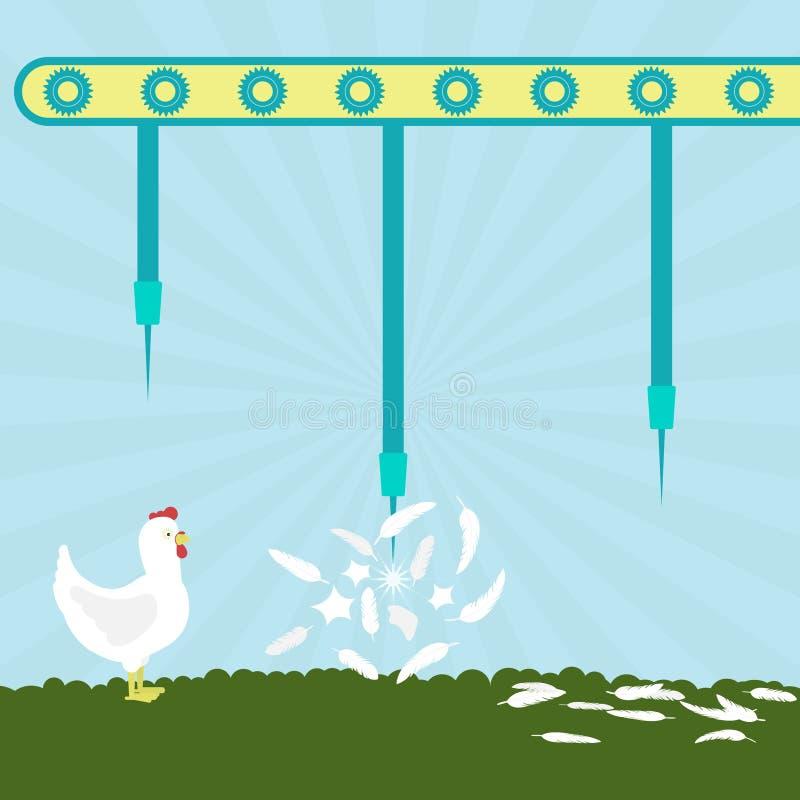 Igły wybucha kurczaki royalty ilustracja