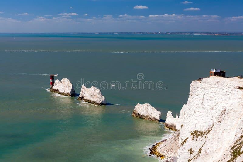 Igły wyspa UK Wight Anglia zdjęcie stock