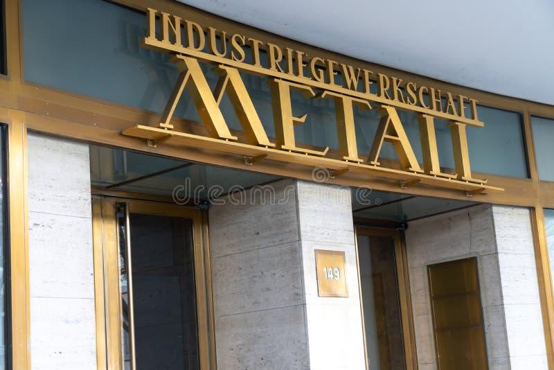 IG Metall. Berlin, Germany - April 19, 2019: Headquarters of IG Metall German: Industriegewerkschaft Metall, Industrial Union of Metalworkers`, dominant royalty free stock image