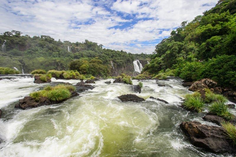 Igauzu瀑布,巴西 库存照片