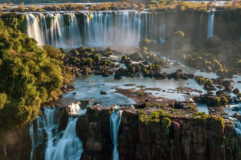 Igauzu Waterfall, Brazil - Colorful Iguazu Waterfall - Cataratas do Iguasu, Brasil UNESCO World Heritage. Colorful Iguazu Waterfall - Cataratas do Iguasu, Brasil royalty free stock image