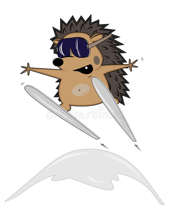 Igel-Skifahrer stock abbildung