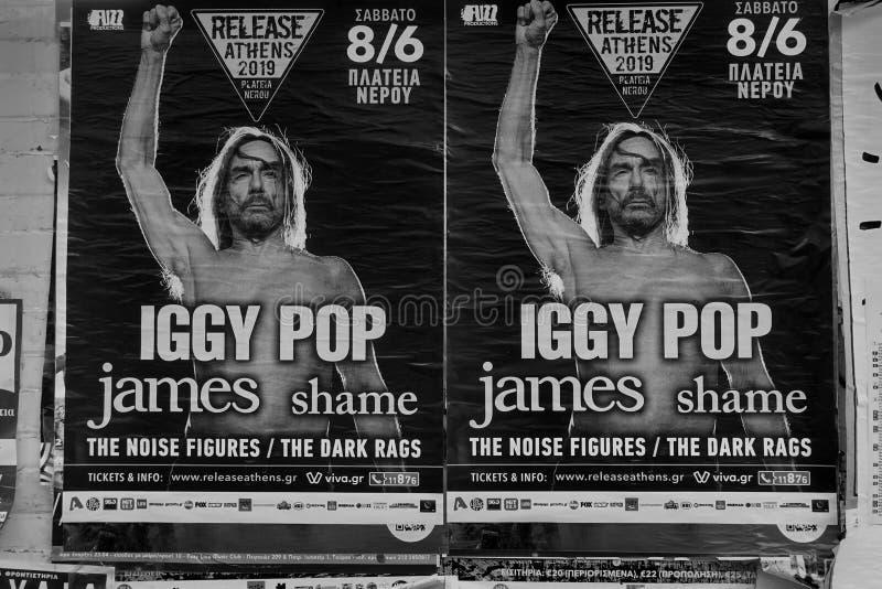 Iggy-Popkonzert-Plakatrockmusik stockbild