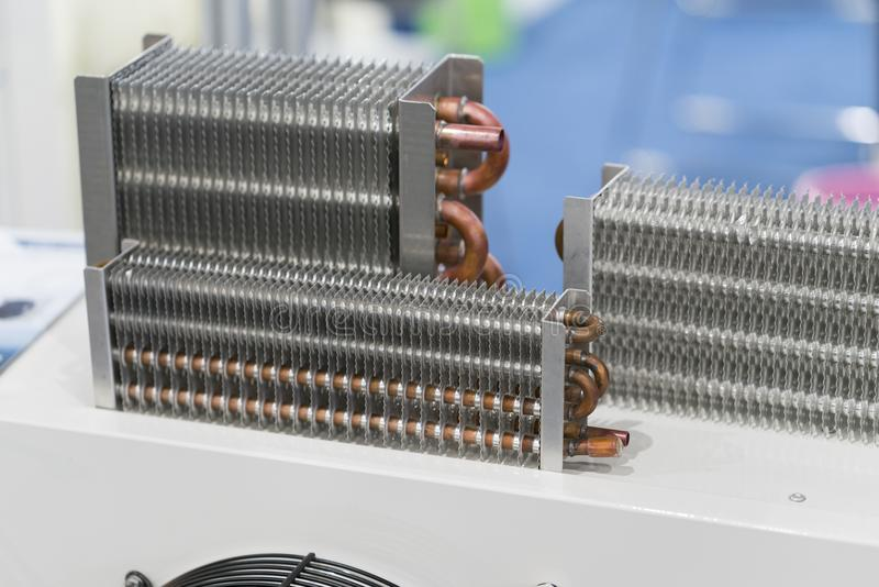 Igh efficiency heat, exchanger for reduce temperature of water l stock photos