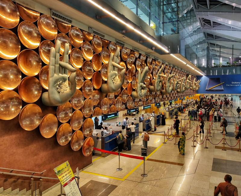 IGI机场新德里 免版税图库摄影