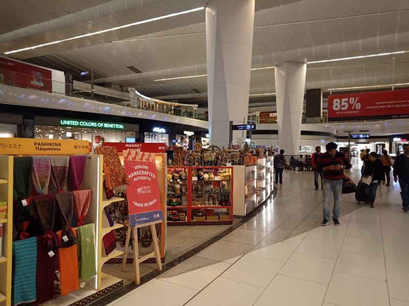 IGI机场,新德里-免税商店 免版税库存照片