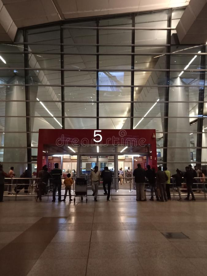 IGI机场,新德里 免版税库存图片