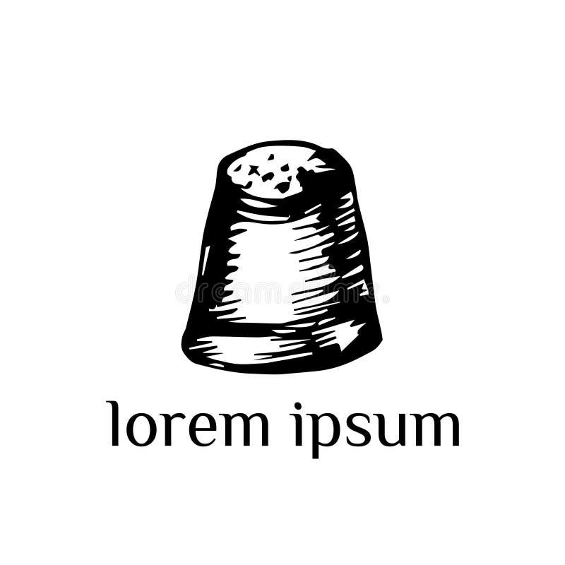 Igielny loga szablon ilustracji