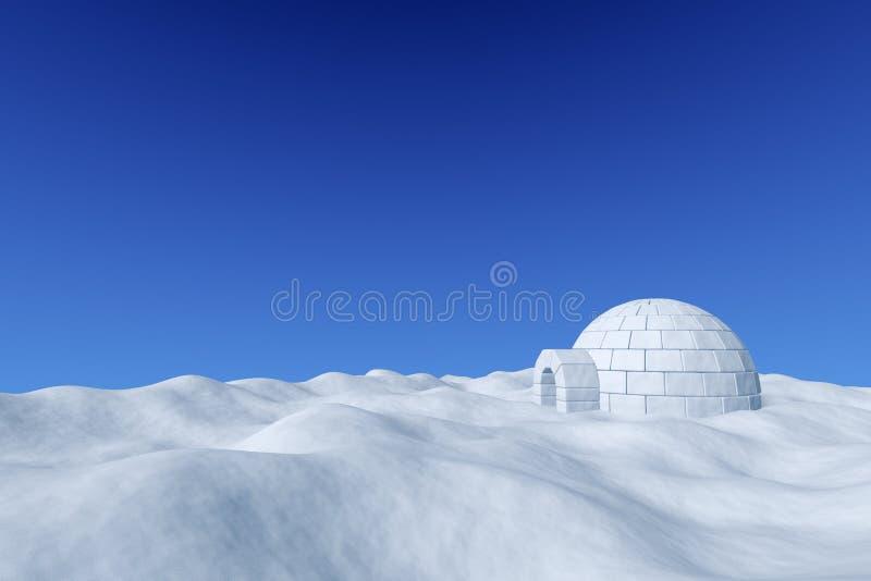 Iglù sotto cielo blu illustrazione di stock