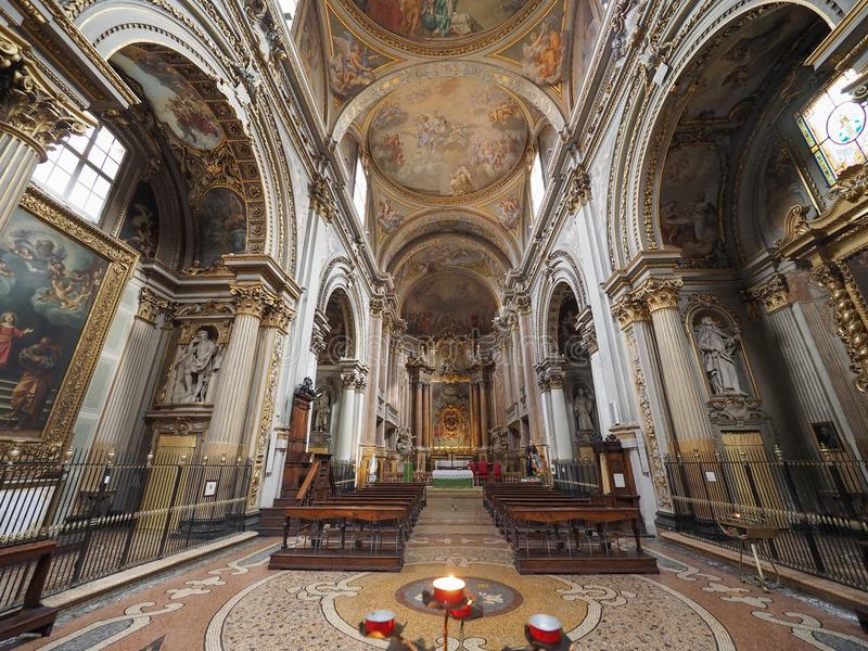 Iglesia aka San Filippo Neri de Madonna di Galliera en Bolonia fotos de archivo