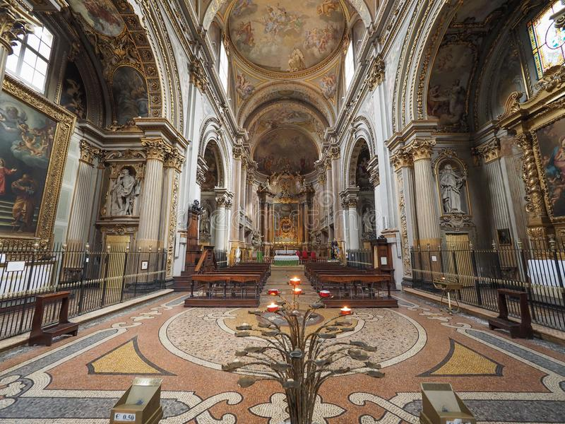 Iglesia aka San Filippo Neri de Madonna di Galliera en Bolonia fotografía de archivo