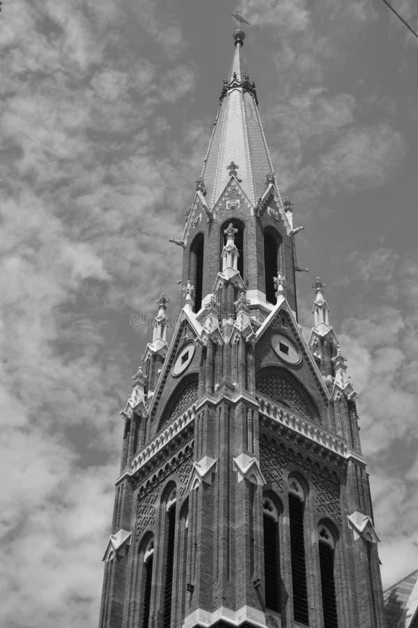 Iglesia al cielo fotos de archivo