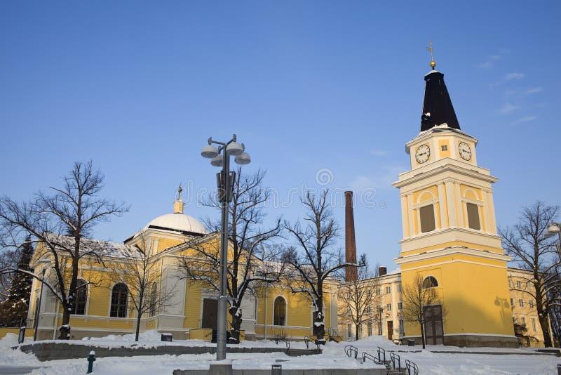 Iglesia amarilla vieja imágenes de archivo libres de regalías