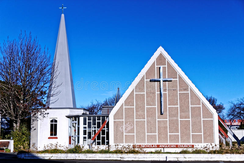 Iglesia Anglicana, Christchurch Nueva Zelanda imagenes de archivo