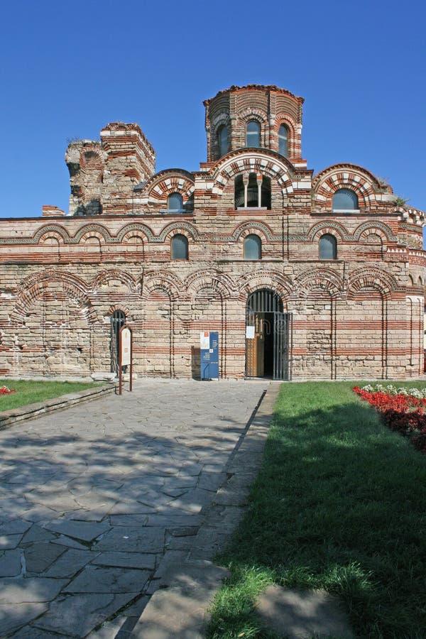 Iglesia antigua en Nessebar, Bulgaria imagenes de archivo