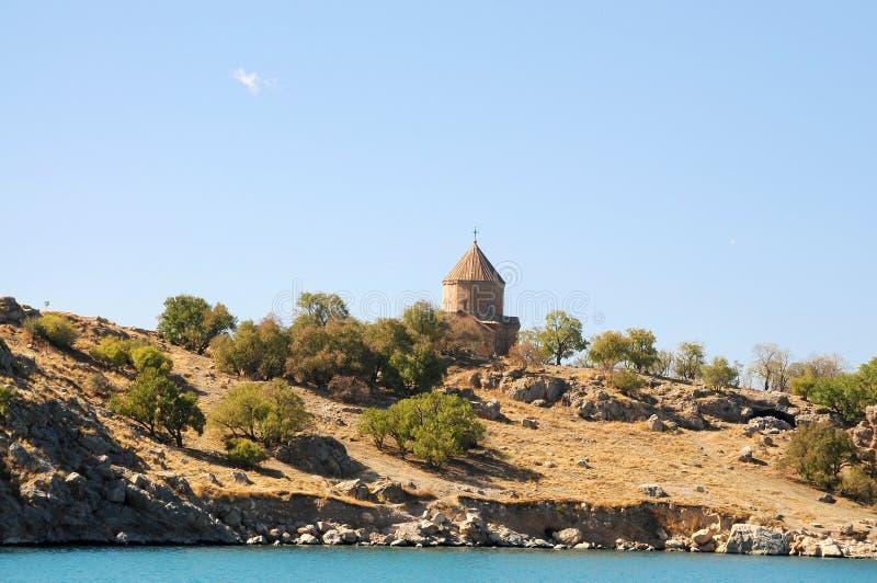 Iglesia armenia de Akdamar en pavo del este imagenes de archivo