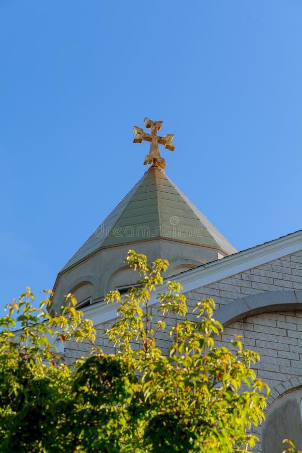 Iglesia armenia de la cruz antigua imagen de archivo