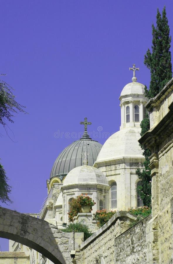 Iglesia, azotea de la bóveda, Jerusalén     fotografía de archivo