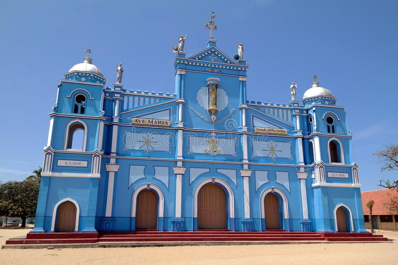 Iglesia azul fotos de archivo libres de regalías