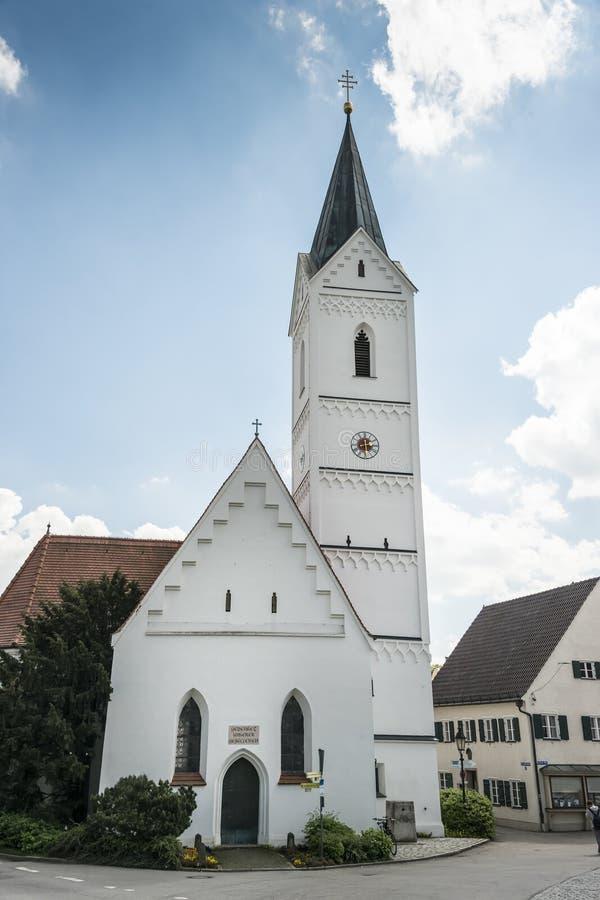 Iglesia bávara del St. Leonhard foto de archivo libre de regalías