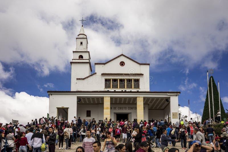 Iglesia Basilika del Senor de Monserrate Bogotà ¡ Colombia arkivfoton